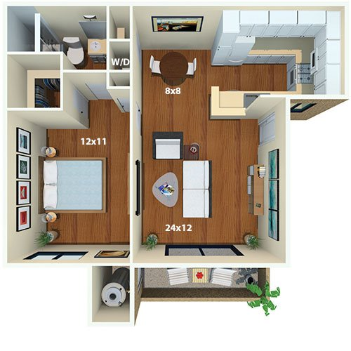 Malibu Canyon Apartments | Calabasas, CA | Floor Plans